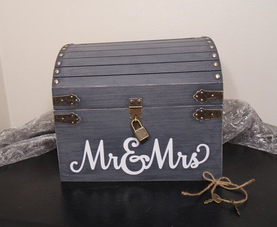 Lockable Wedding Card Chest w Card Slot Keepsake Chest Card Box – Lockable Wedding Card Box