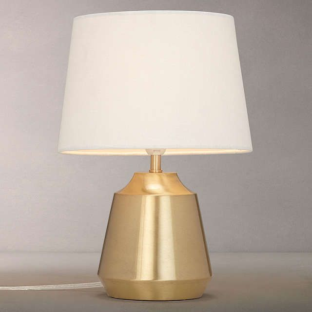 BuyJohn Lewis Lupin Table Touch Lamp, Brushed Brass Online At Johnlewis.com  I £