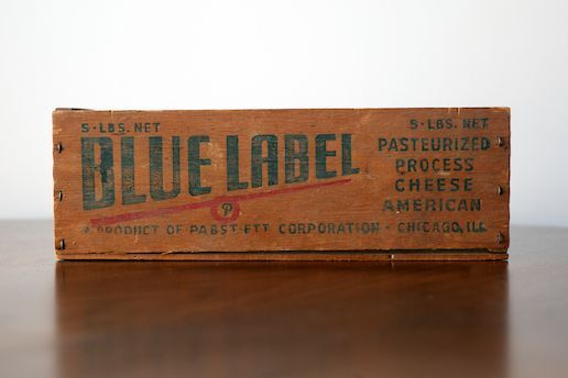 Large Vintage Cheese Box...kind of a cool box to put random things in.