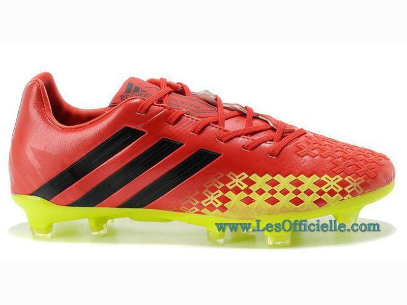 chaussure de foot adidas rouge