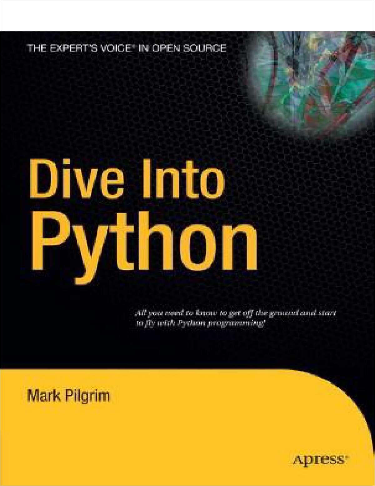 Dive Into Python--Free 328 Page eBook Free eBook | Programming