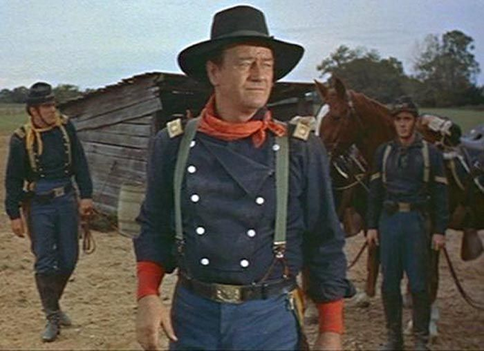 """This is my new reproduction of the shirt worn by John Wayne in """"The Horse Soldiers. Shoulder board insignia IS NOT included with this shirt. John Wayne, Classic Films, Western Shirts, Hollywood Stars, Soldiers, Double Breasted, Movie Stars, Captain Hat, Dessert Games"""