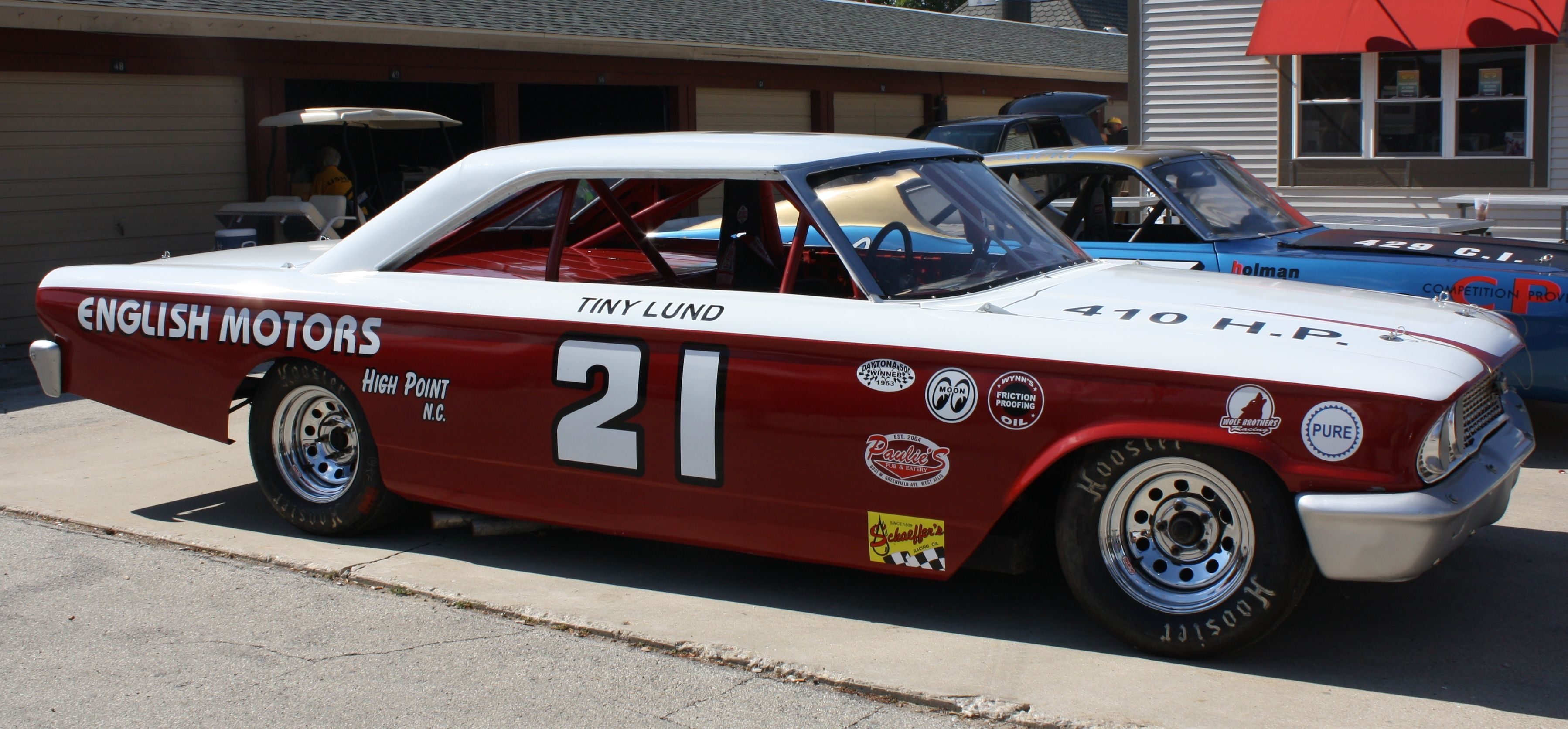 1963 Wood Brothers Ford Galaxy Driven By Tiny Lund Nascar Race