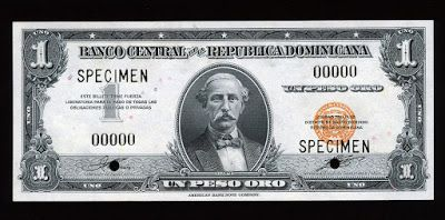 Currency 1 Dominican Peso Oro Banknote