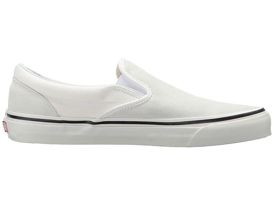 9a3c48e4bc57f Vans UA Classic Slip-On 98 DX Shoes (Anaheim Factory) Suede OG White ...