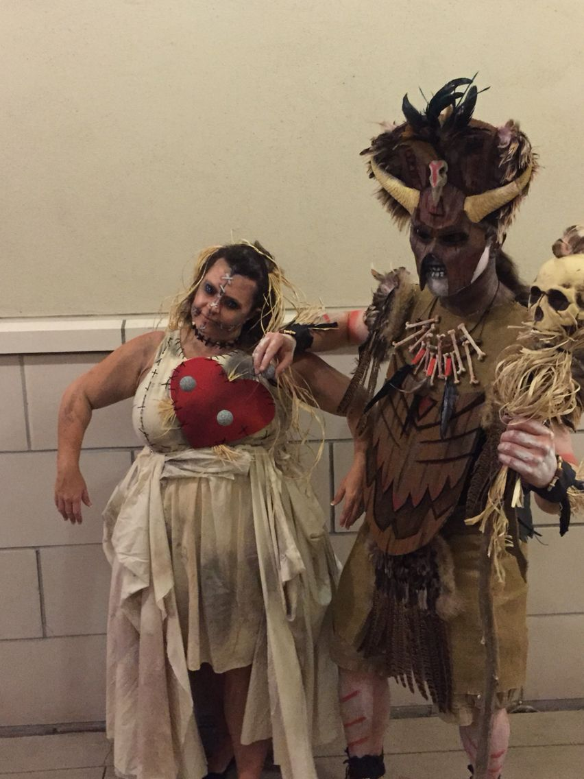 2015 Halloween- voodoo doll and witch doctor. Homemade costumes ...