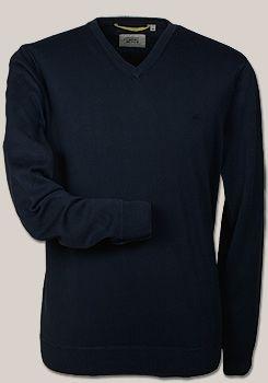 CAMEL Active Pullover Langarm Baumwolle dunkelblau
