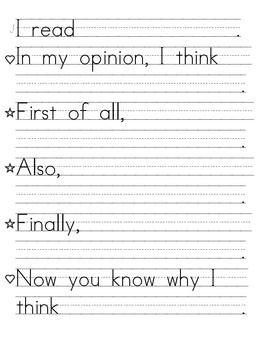 Pin On Opinion Writing