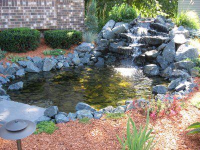 Laguinho de jardim pequeno Pond waterfall Landscaping and Small
