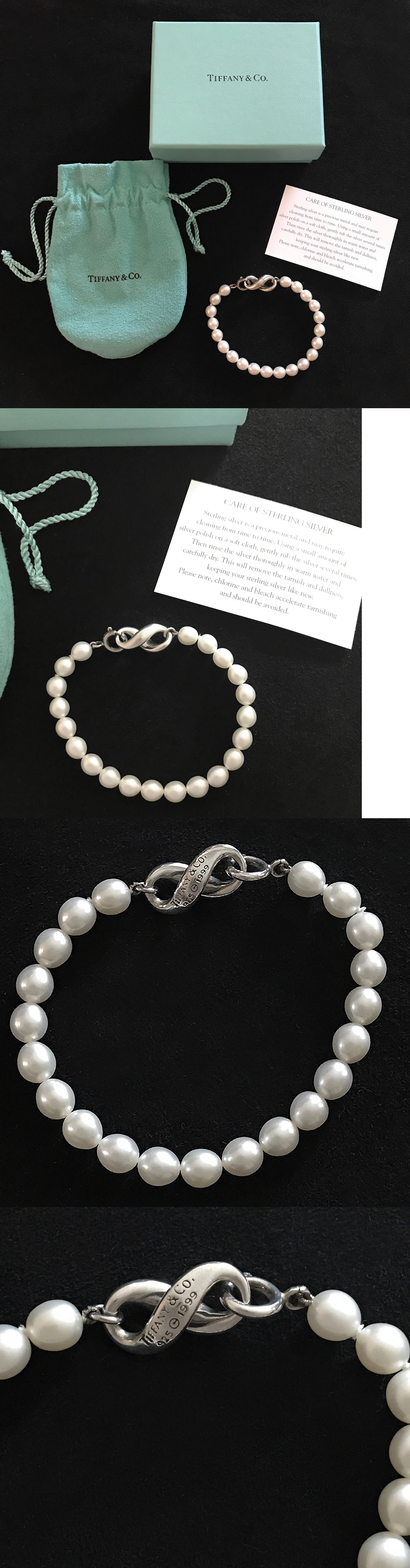 ae5898b5d Pearl 164316: Brand New Tiffany And Co. Infinity Pearl Bracelet With Sterling  Silver Clasp -> BUY IT NOW ONLY: $365 on eBay!