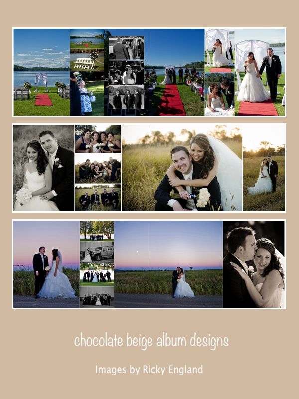 Ricky & Amy - 8x12 flushmount wedding album, images by Ricky England Photography, album printed by Photo Mounts and Albums.