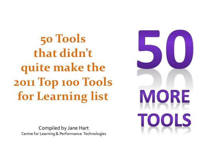 50 More Tools By Jane Hart Via Slideshare Technology Tools Learning Tools Tools For Teaching