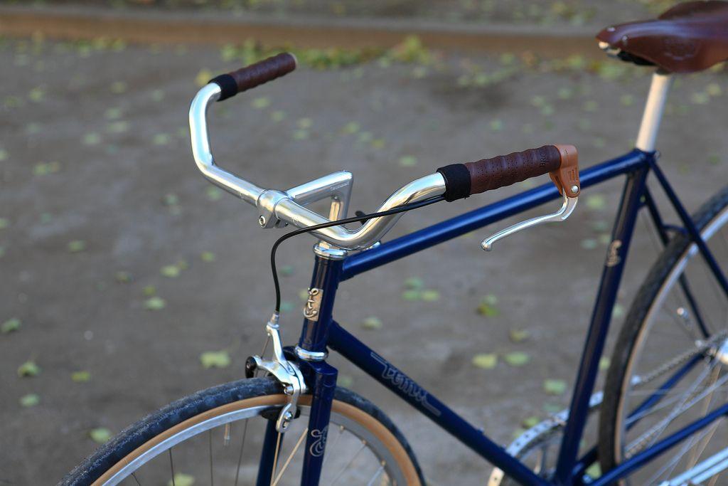 Velo-Orange Left Bank Handlebar Silver 22.2mm Touring Road Commuter Bike