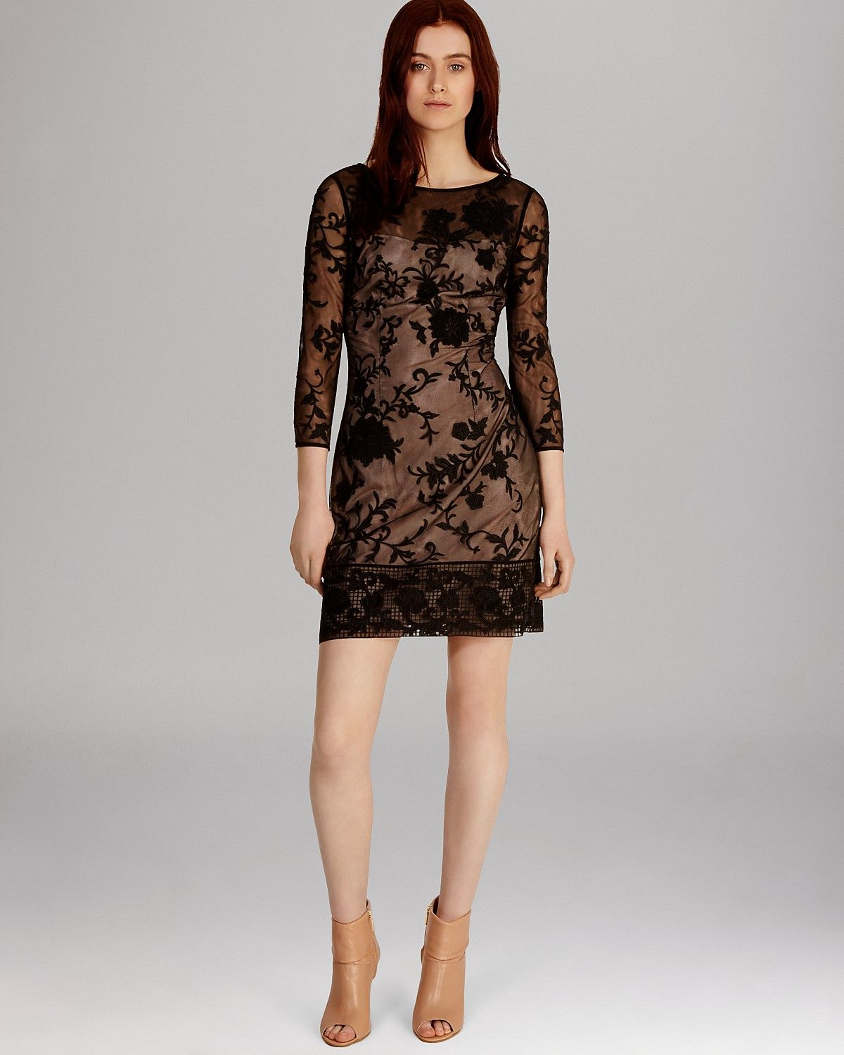 floral embroidered tulle dresses | KAREN MILLEN Dress - Modern Floral Embroidered Tulle Collection