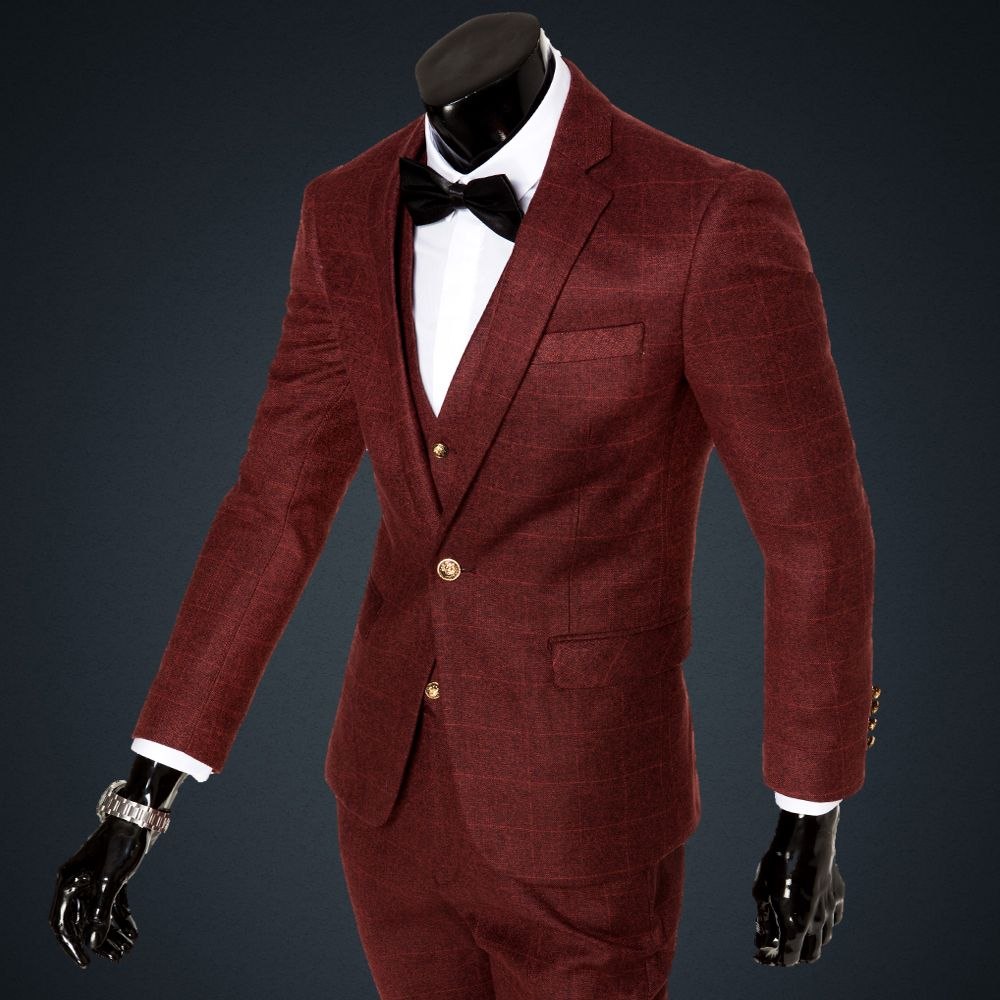Click to buy ucuc wholesale cheap suits for men pieces formal