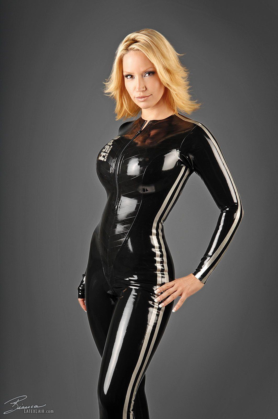 Bianca beauchamp latex pinterest latex models and catsuit