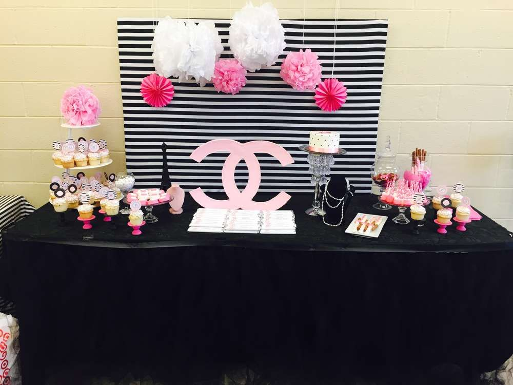 Chanel Baby Shower Party Ideas Chanel Baby Shower Baby Shower