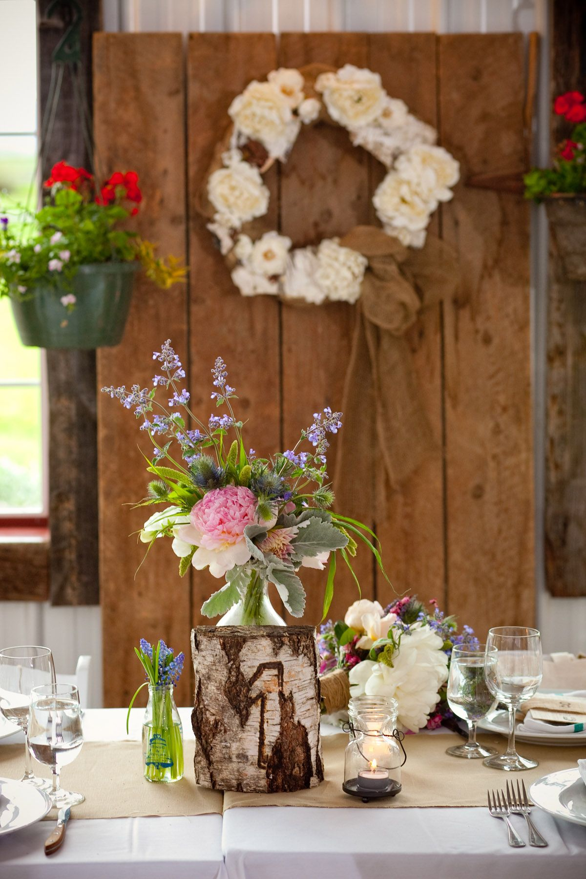 Diy rustic wedding decor ideas  Homemade Wedding Reception Centerpieces  Rustic wedding reception