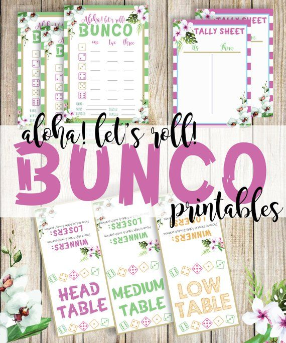 picture regarding Printable Bunco Cards named Aloha Printable Bunco, Tropical Printable Bunco Playing cards, Bunco
