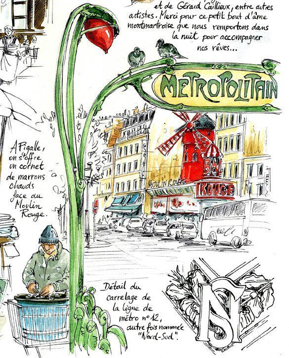 Pingl par ute sur kunst pinterest carnets voyages for Carnet de voyage paris
