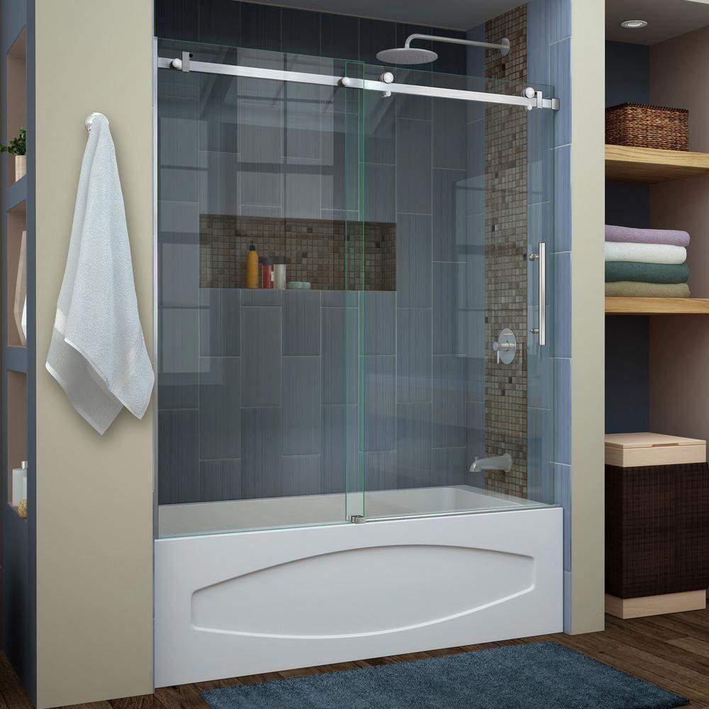 Great Frameless Sliding Tub Shower Doors