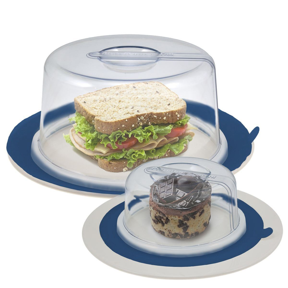 2 Platetopper Mini Tall Universal Leftover Lid Microwave Cover