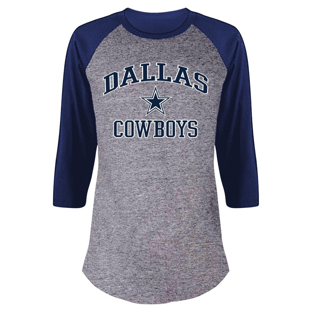 2a6cd4f625a Dallas Cowboys Women's Plus Size Team Logo Raglan Baseball T-Shirt - 1X