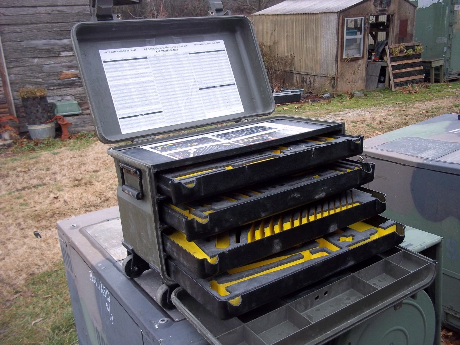 Military Surplus General Mechanics Tool Kit Box Kipper Truck Trailer Tent Army Trailer Tent Mechanic Tools Military Surplus