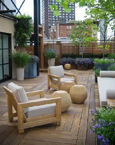 Du bois pour 6 terrasses au charme fou !   a   Terrasse zen ...