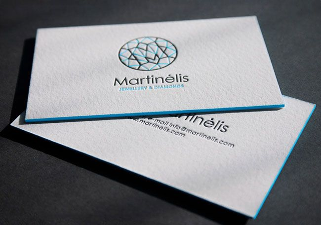 Business Card For A Jewelry Designer Letterpress Business Cards Inspiration Letterpress Business Cards Business Card Design Inspiration