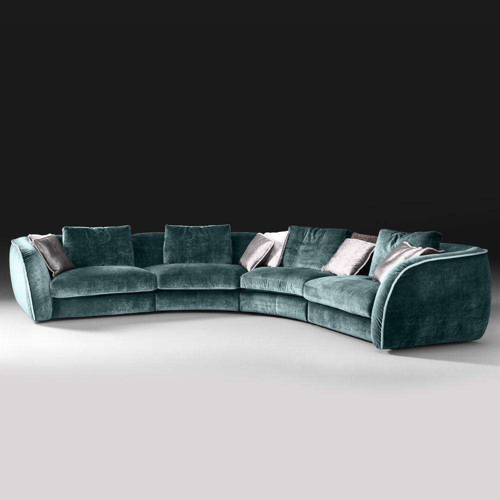 High End Large Velvet Modular Corner Sofa