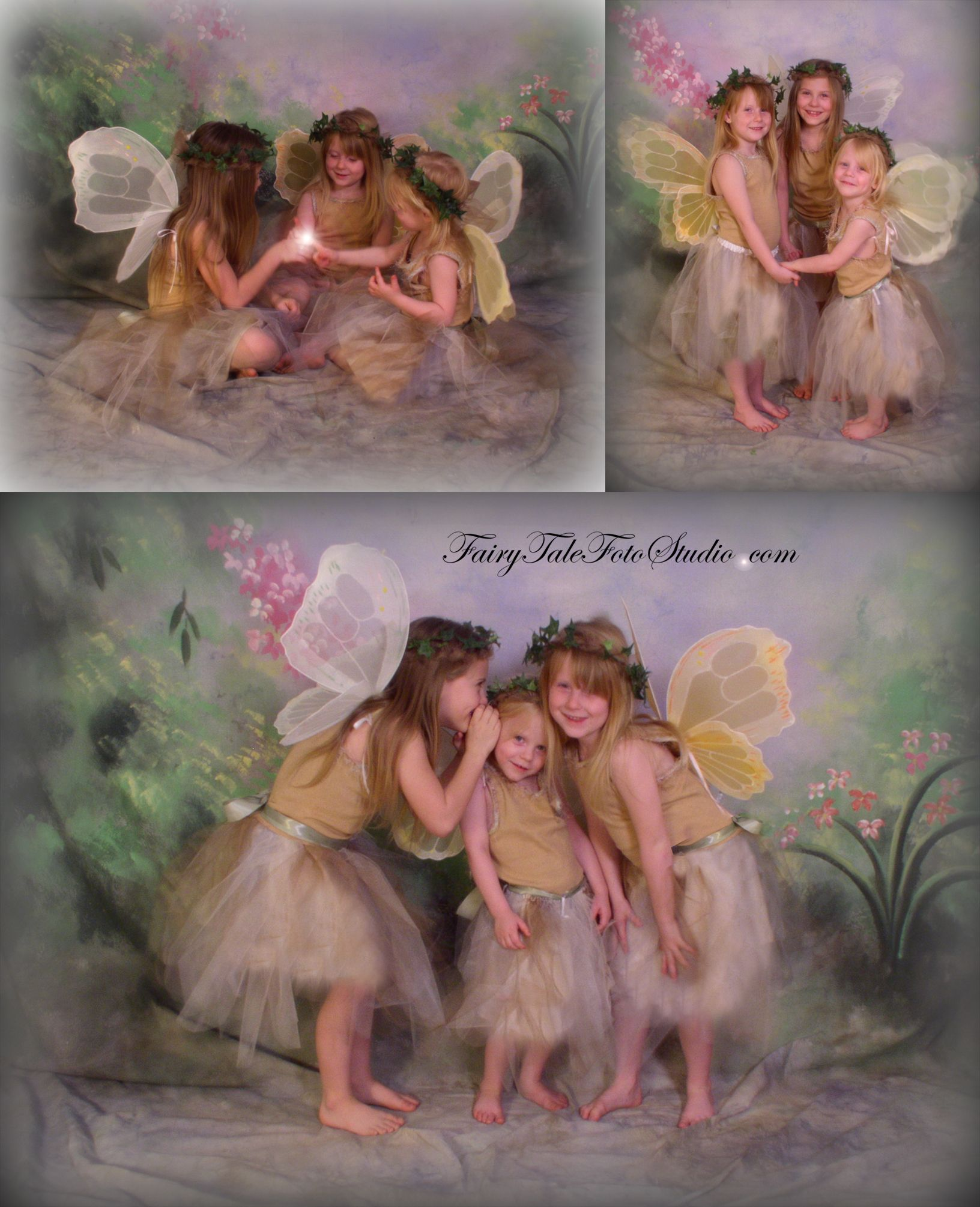 Sister Fairies | Sibling Portraits | Fairy Photography | Fairy Portrait | Fairy Photo | | Spring Posing Ideas | Fall | Autumn | Photographer in Bountiful Utah near Salt Lake City, Ogden and Provo UT
