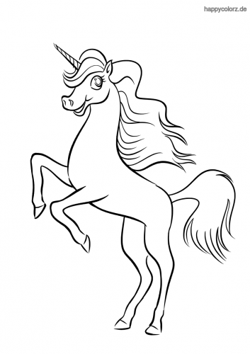 Springendes Unicorn Ausmalbild Ausmalen Ausmalbilder Ausmalbilder Zum Ausdrucken
