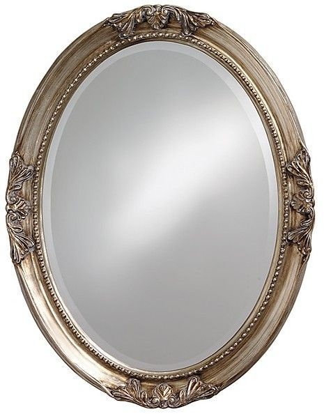 Silver 20457 21x31 Inch Overall Size MCS Beaded Oval Wall Mirror