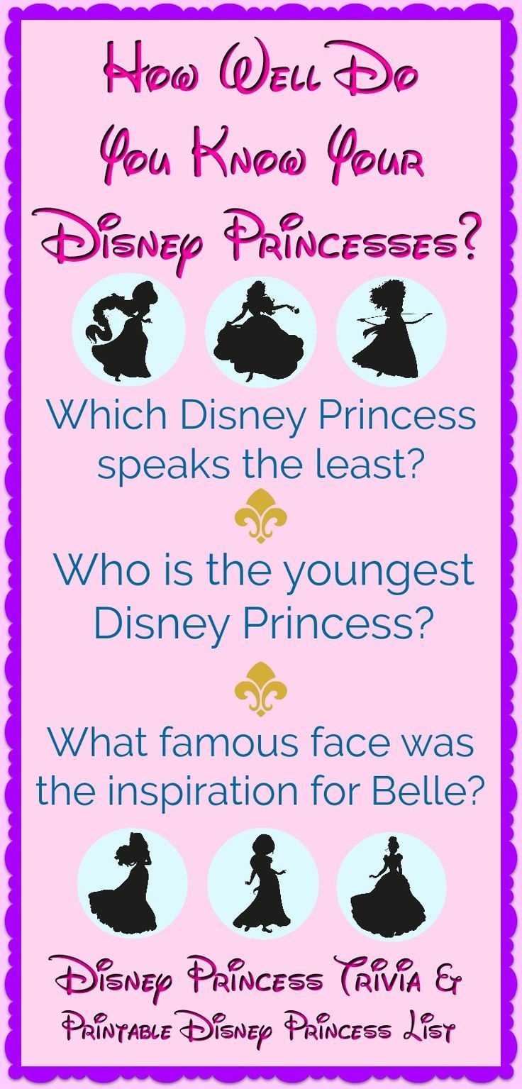 The Complete Disney Princess List (with trivia & a free ...