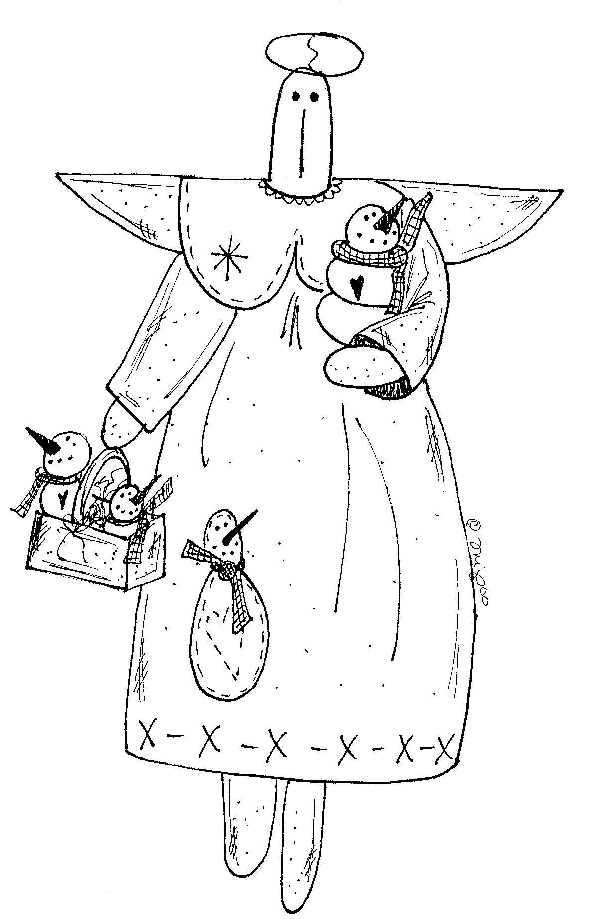 Christmas angels embroidery | Bordados/Riscos/Pinturas | Pinterest ...