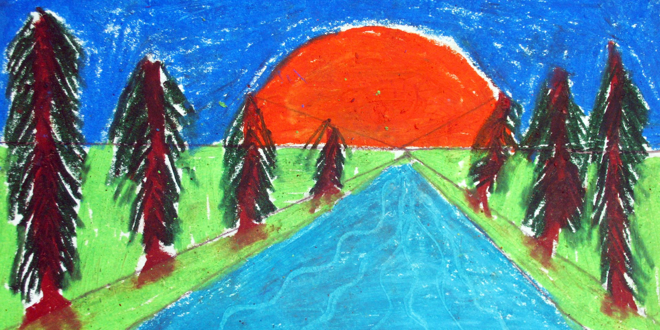 Pin By Art In Action On Nature Landscape Oil Pastel Landscape Pastel Landscape Oil Pastel