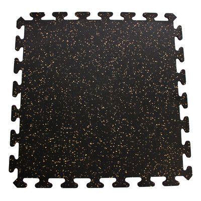 Mats Inc iFLEX Recycled Rubber Interlocking Floor Tiles in Black