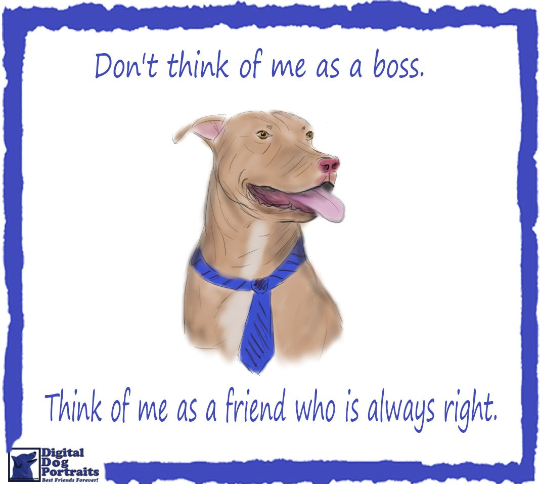 Pitbull Dog Quotes The Boss And The Customers Are Always Right Don't Worry Pit Bull
