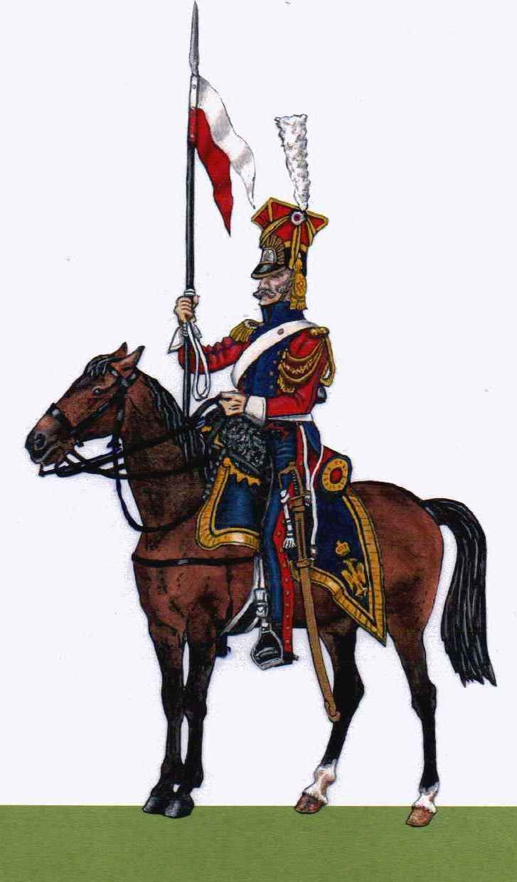 red dutch lancers e r eacute giment de chevau l eacute gers lanciers de la napflatpaper paper iers dutch lancer
