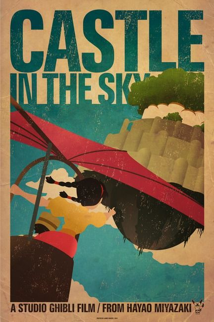 Castle In The Sky By James Bacon ジブリ イラスト スタジオジブリ 映画 ポスター