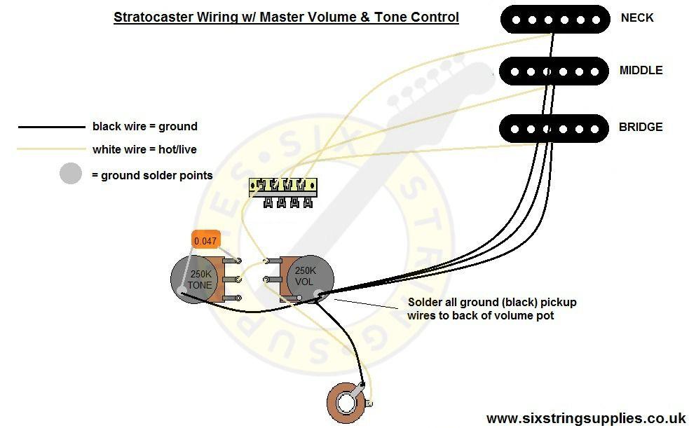 1 Volume 1 Tone Wiring Diagram