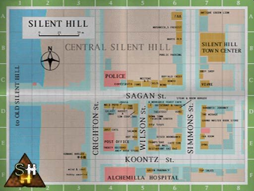 Map Of Silent Hill Silent Hill Silent Hill Town Fantasy World Map
