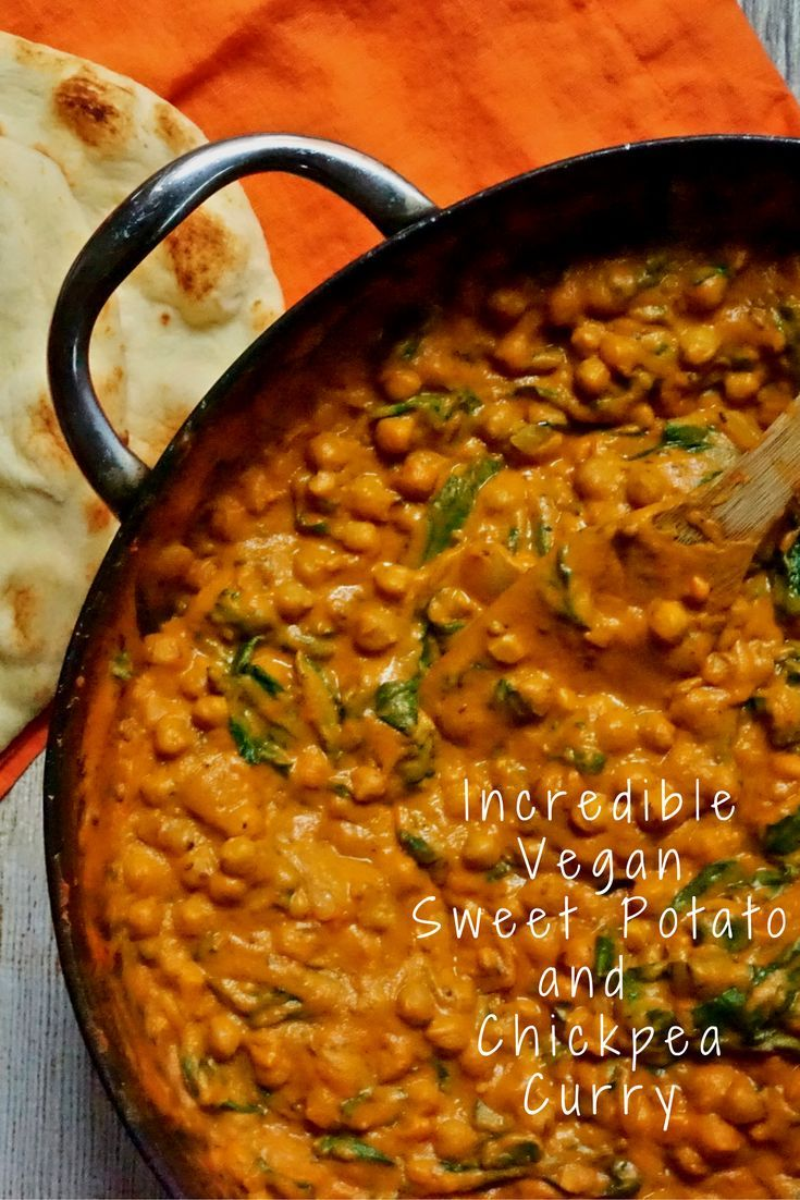 Incredibly Good Vegan Sweet Potato and Chickpea Cu