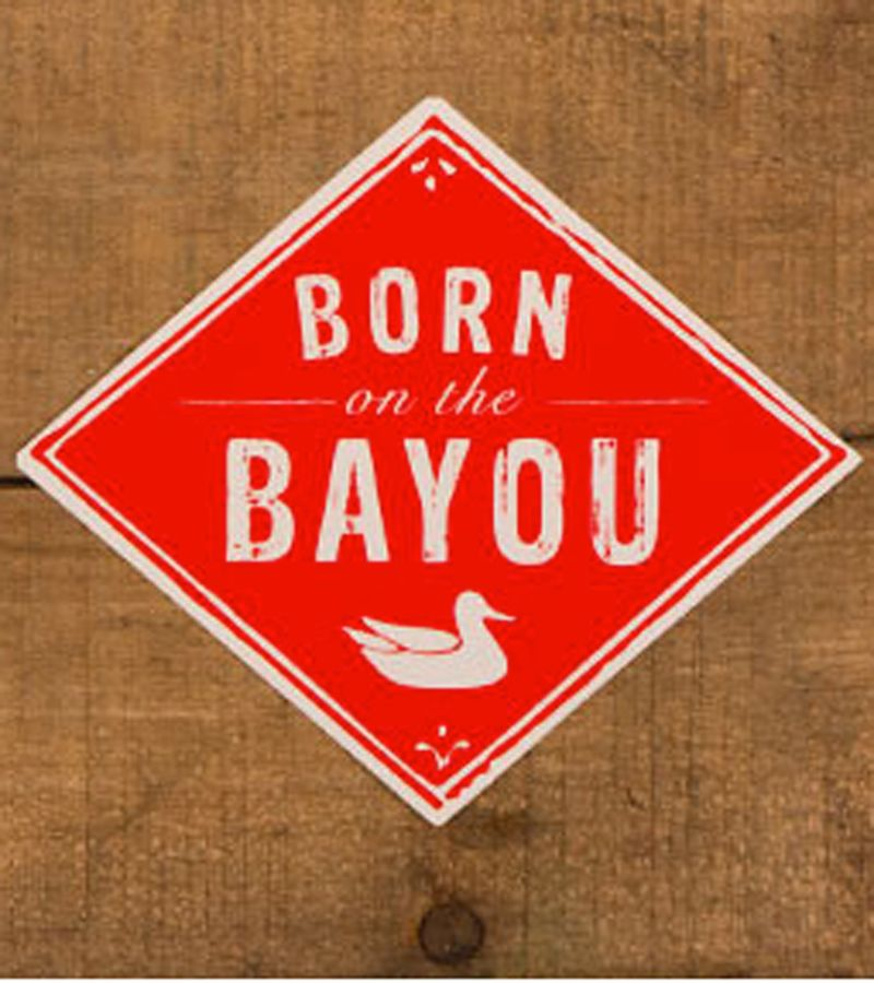 Southern Marsh Sticker, Born on the Bayou