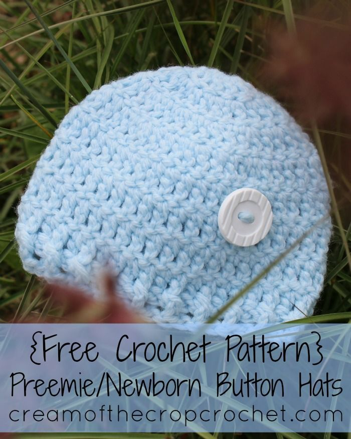 Are you looking for a simple, yet cute hat for a preemie? These ...