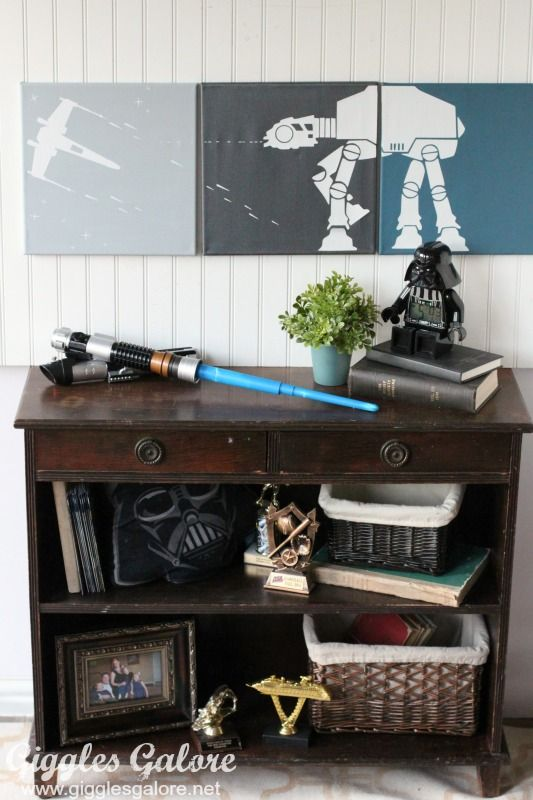 Easy Diy Star Wars Canvas Wall Art Room Decor Ideas For Kids Star Wars Room Decor Star Wars Room Star Wars Bedroom