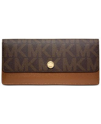 MICHAEL Michael Kors MK Signature Flap Wallet - MICHAEL Michael Kors - Handbags & Accessories - Macy's