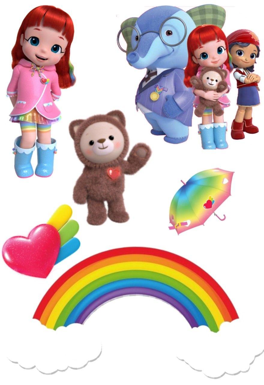 Rainbow Ruby Png : rainbow, Topper, Rainbow, Ulang, Tahun,, Pesta, Hiasan