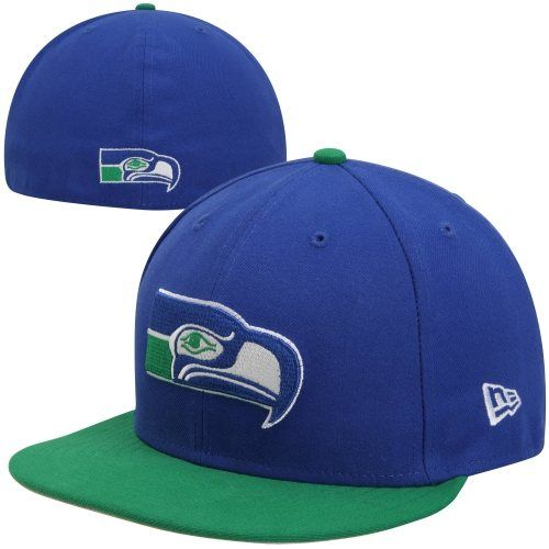 326bc73322750b New Era Seattle Seahawks Historic Basic 59FIFTY Fitted Hat - Royal  Blue/Green